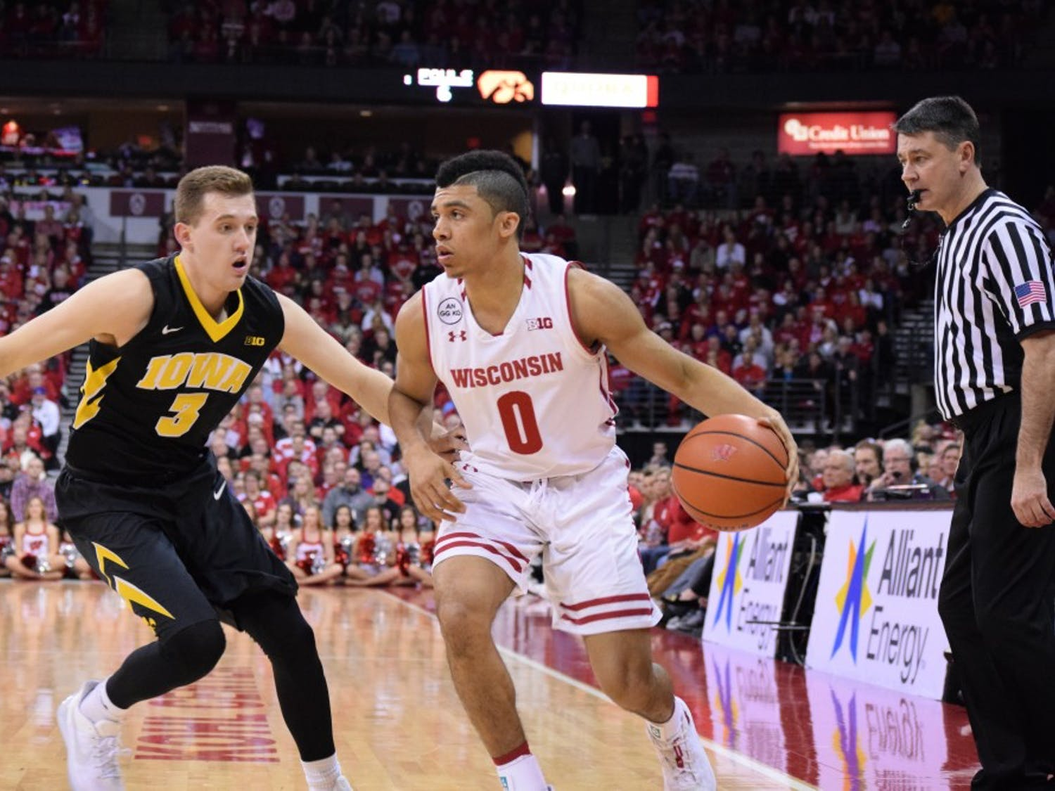 Wisconsin point guard D'mitrik Trice went scoreless in his only career game against Nebraska, but he's a dramatically different player than he was in that contest two seasons ago.