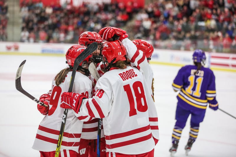 Abby Roque was critical in the win against Minnesota, scoring three goals in two periods.