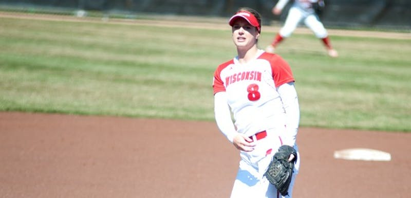 Senior pitcher Cassandra Darrah and the Badgers went 1-2 in their series against Iowa.