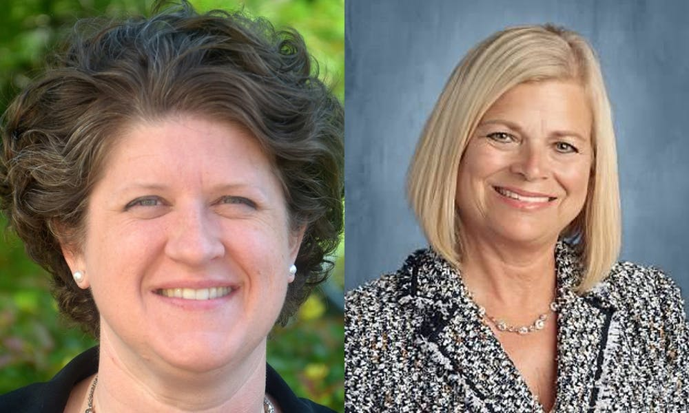 Side by side photo of Wisconsin Superintendent candidates, Jill Underly and Deborah Kerr.