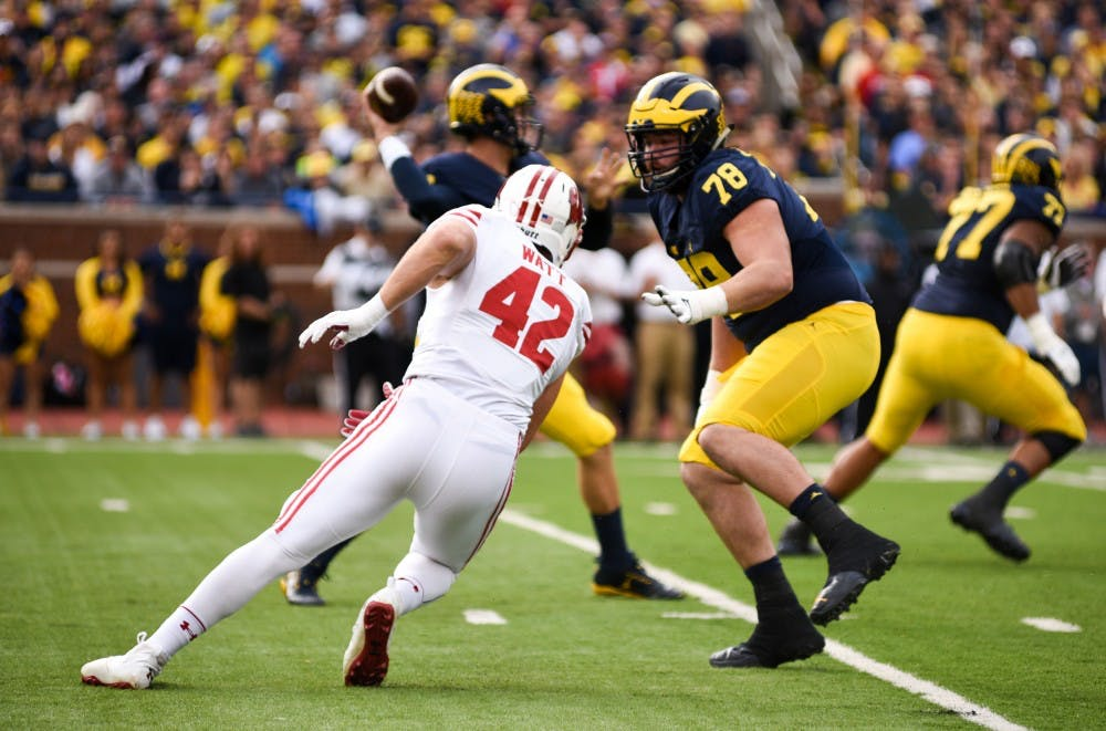 """Wisconsin consistently finds """"diamonds in the rough,"""" as exemplified by turning T.J. Watt, who's national recruiting rank was 941, into a first round draft pick."""