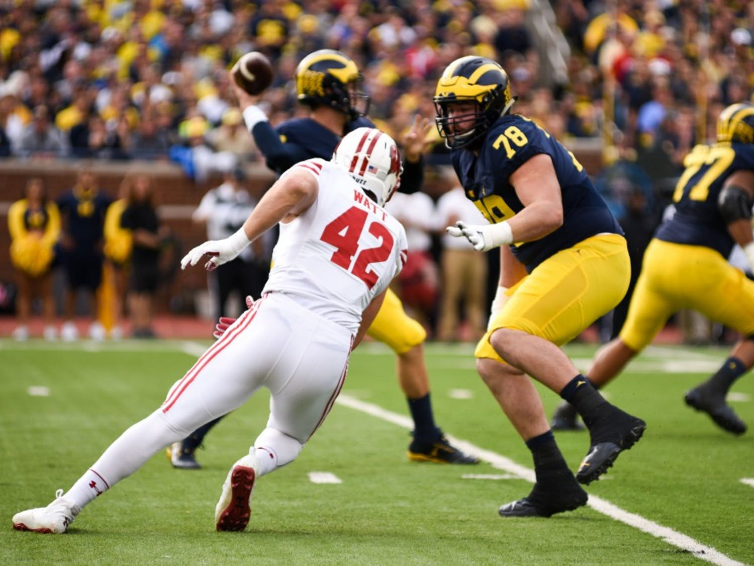 "Wisconsin consistently finds ""diamonds in the rough,"" as exemplified by turning T.J. Watt, who's national recruiting rank was 941, into a first round draft pick."