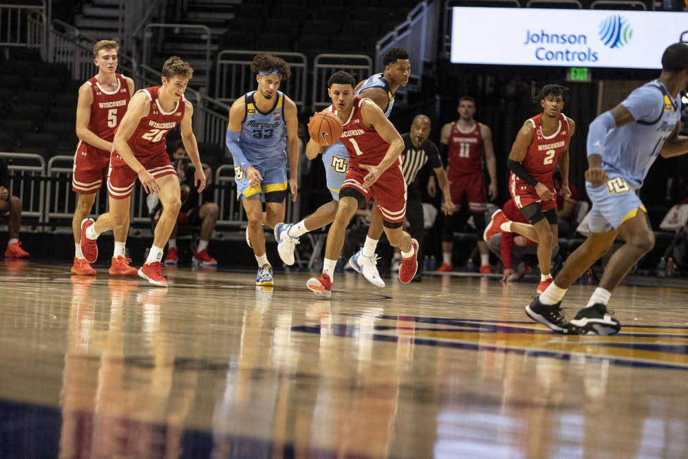<p>Jonathan Davis has been the leader of the Badgers' youth movement so far this season.</p>