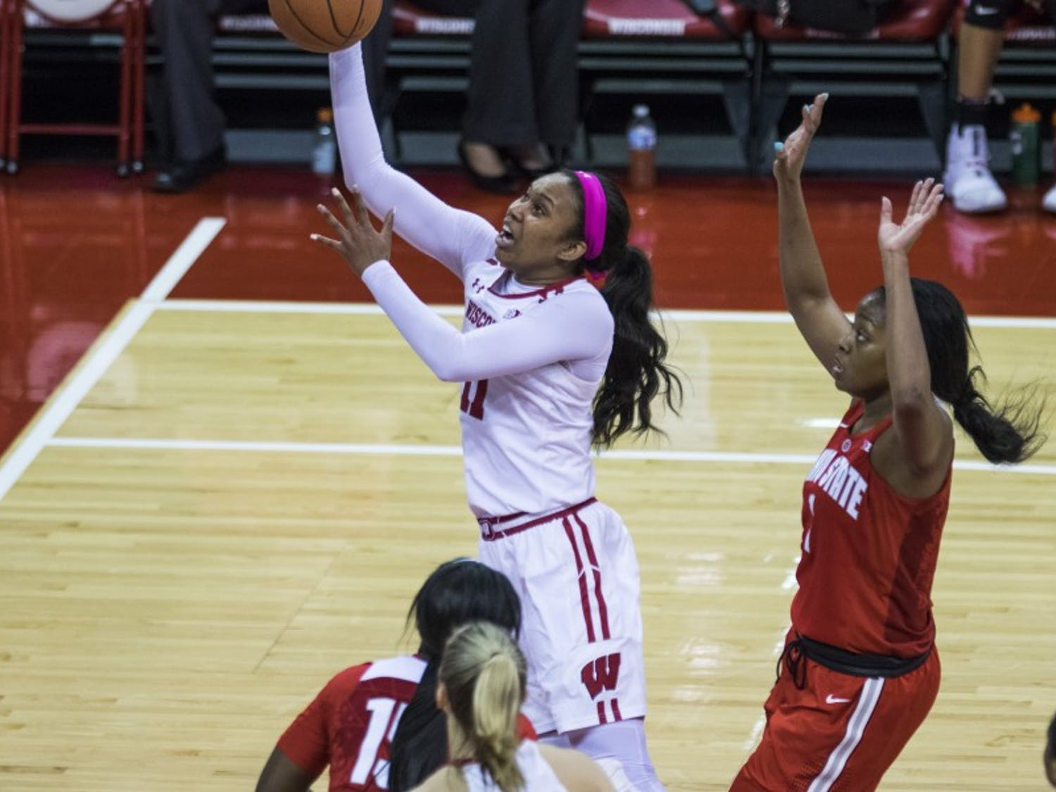 Senior forward Marsha Howard had 16 points while Imani Lewis put up 18 in Wisconsin's loss to Rutgers Monday night.
