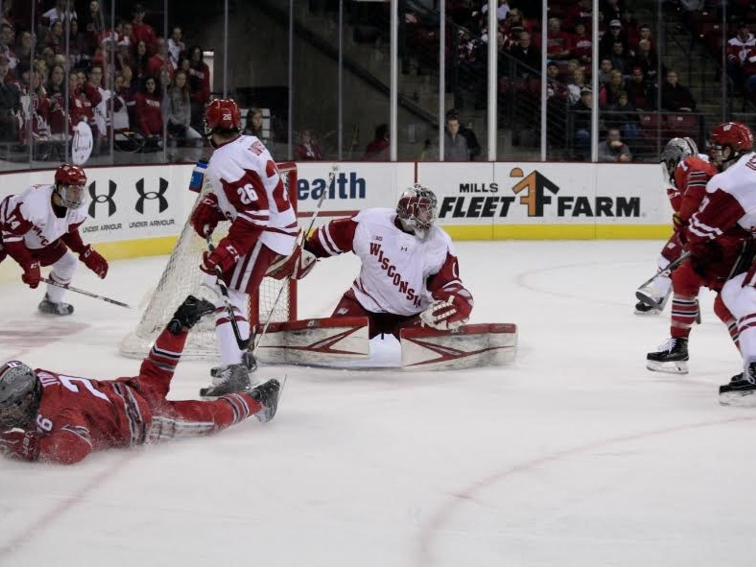 Junior Jack Berry stopped just 11 of the 15 shots he faced in Friday night's 5-0 loss, costing the Badgers a chance in a game where they outshot North Dakota.