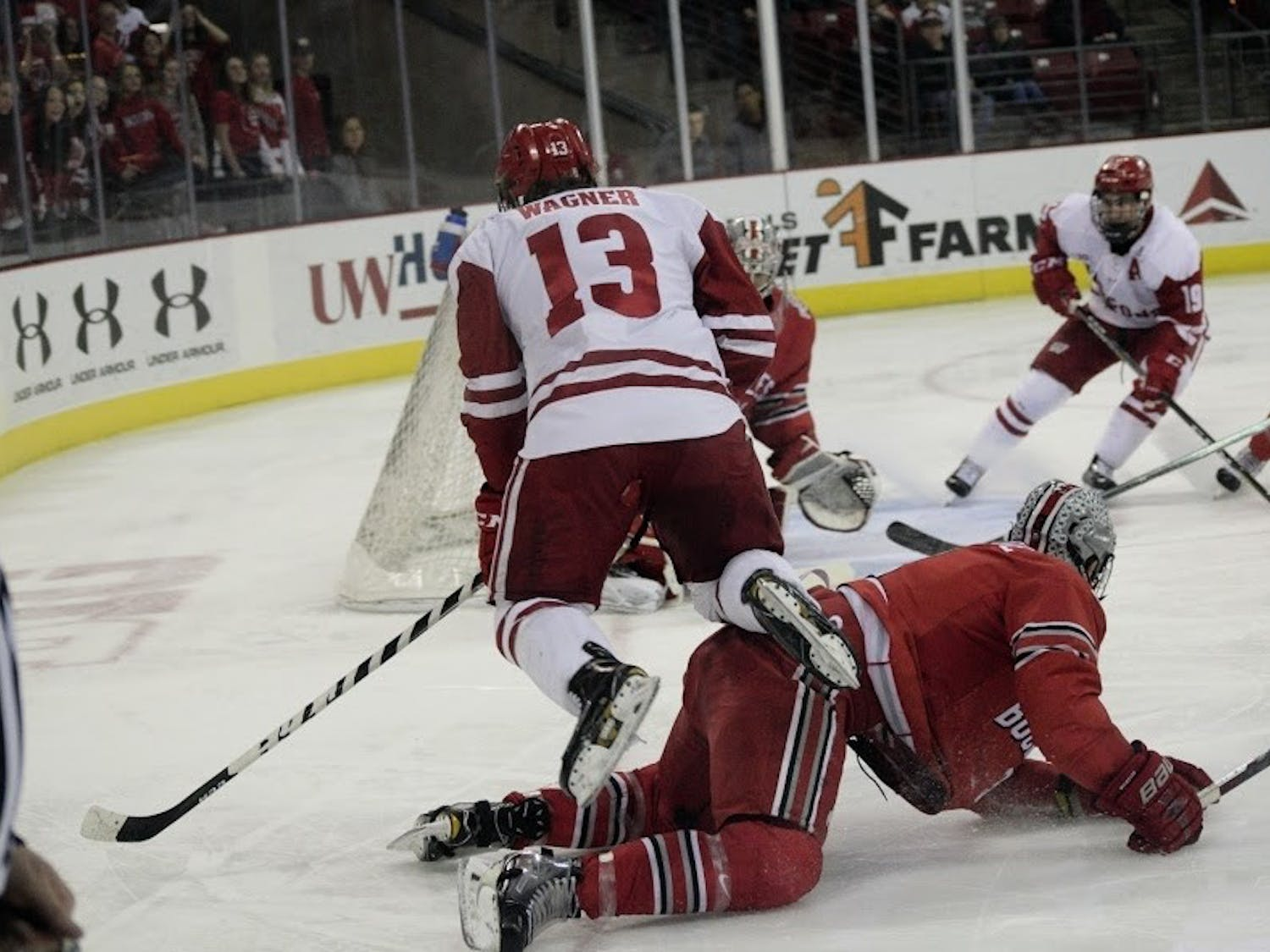 Wisconsin travels east this weekend to play No. 13 Boston College Friday and Merrimack Saturday.