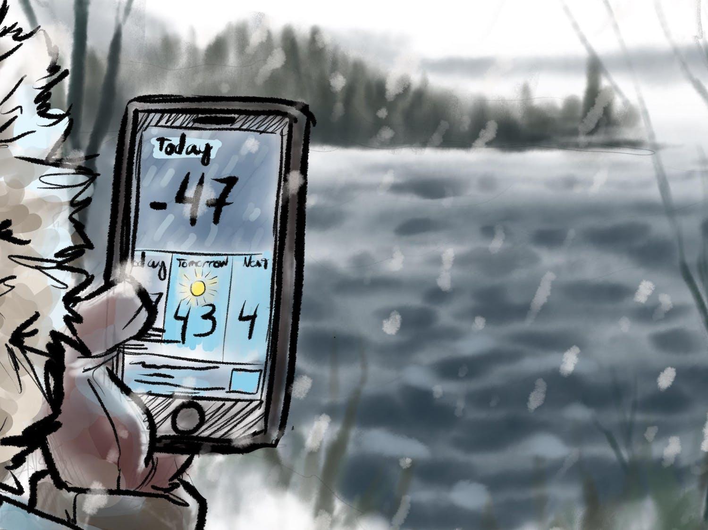 Polarizing temperatures overlooking Mendota