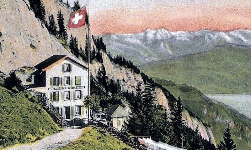 The album cover of Alpine Dreaming: The Helvetia Records Story, 1920-1924 showcases the heritage discussed in the album's songs.