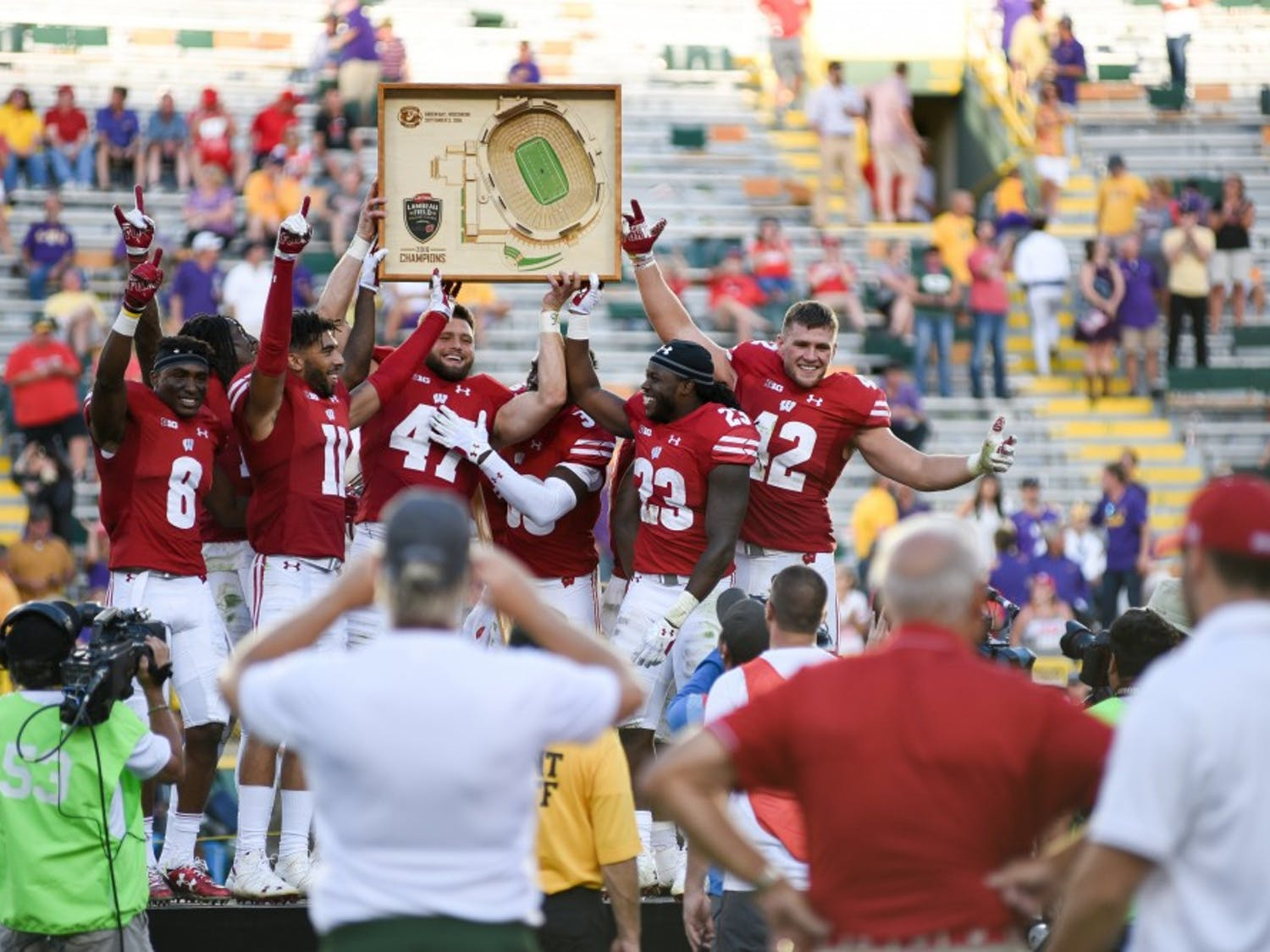 The Badgers defeated LSU at the long awaited season opener at Lambeau Field in Green Bay, WI. Photos by Jessi Schoville