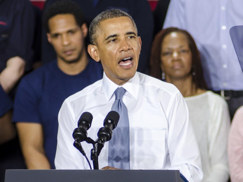President Barack Obama spoke in Milwaukee Thursday to praise the city's efforts in raising enrollment in the Affordable Care Act.
