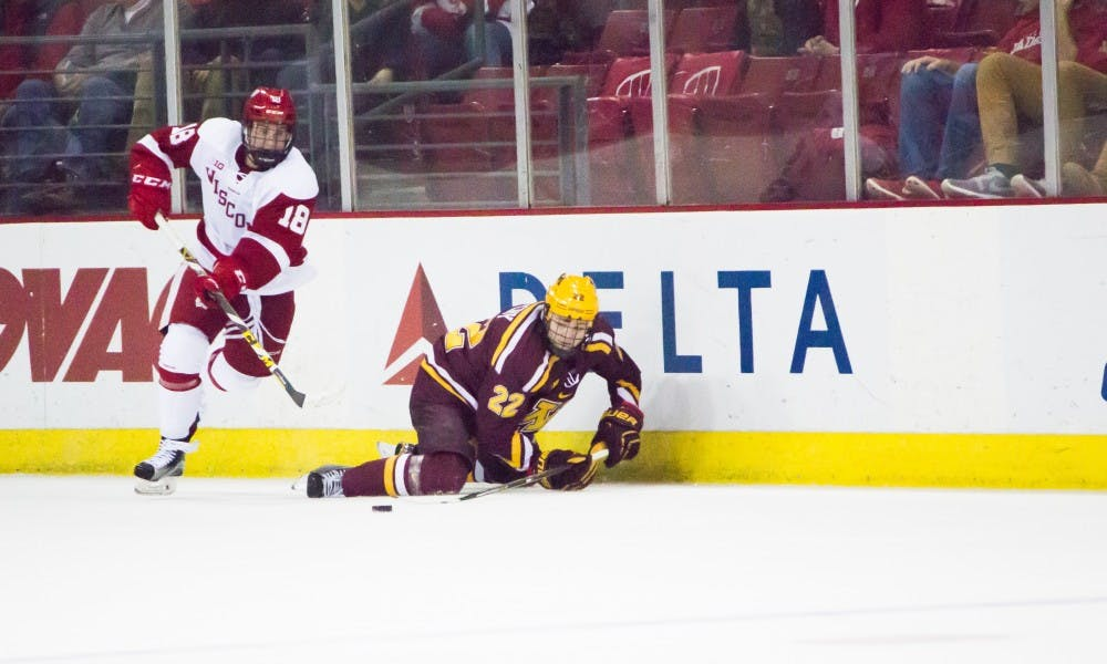 Seamus Malone helped the Badgers earn a win on Saturday after a lackluster loss on Friday.
