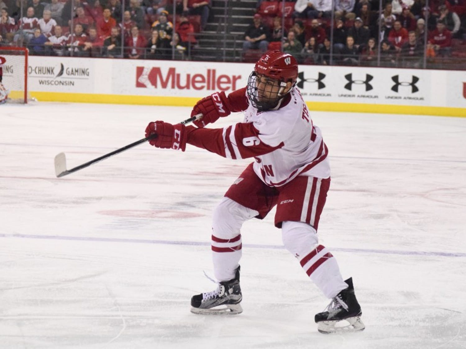 Junior Peter Tischke tied the game against Penn State with under two minutes to go on Saturday, but the Badgers could only manage one point in the Big Ten standings after losing the shootout. PSU earned five of six points for the weekend.
