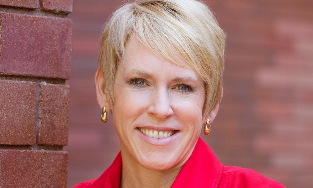 <p>Katherine P. Frank will become the first female chancellor at UW-Stout beginning March 1.&nbsp;</p>