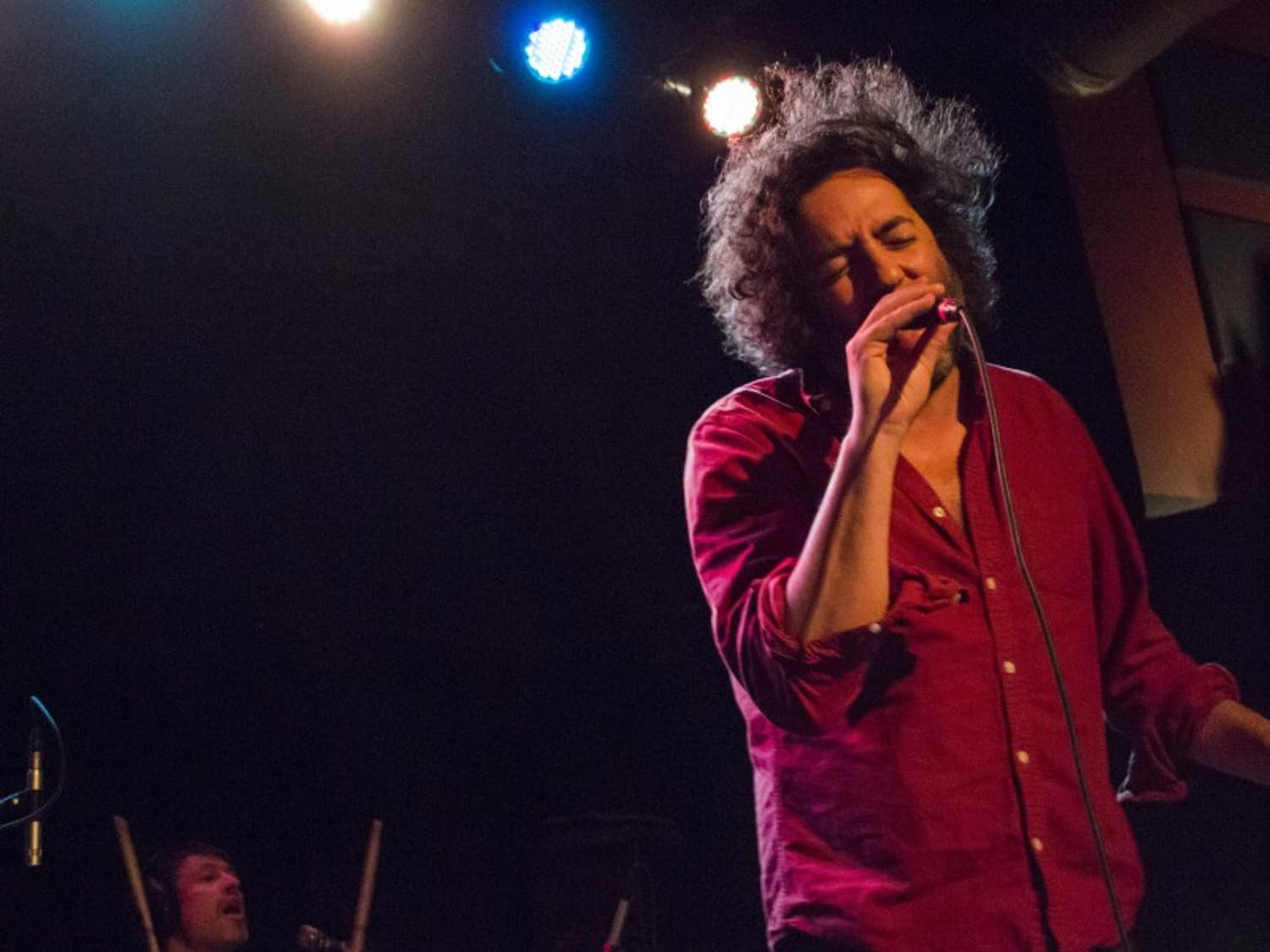Destroyercompletely immersed the audience intheirperformance with haunting vocals and bouncing rhythms.