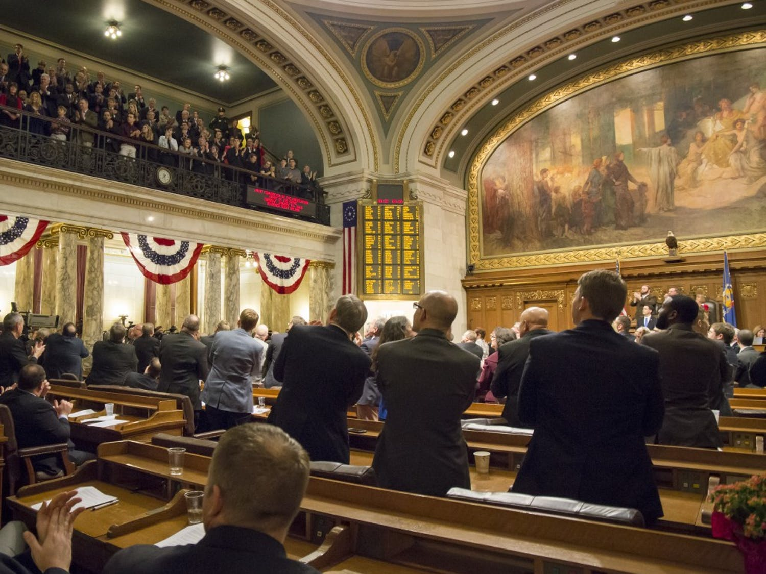 The state Assembly passed dozens of bills Tuesday as it attempts to wrap up its session by the end of the month.