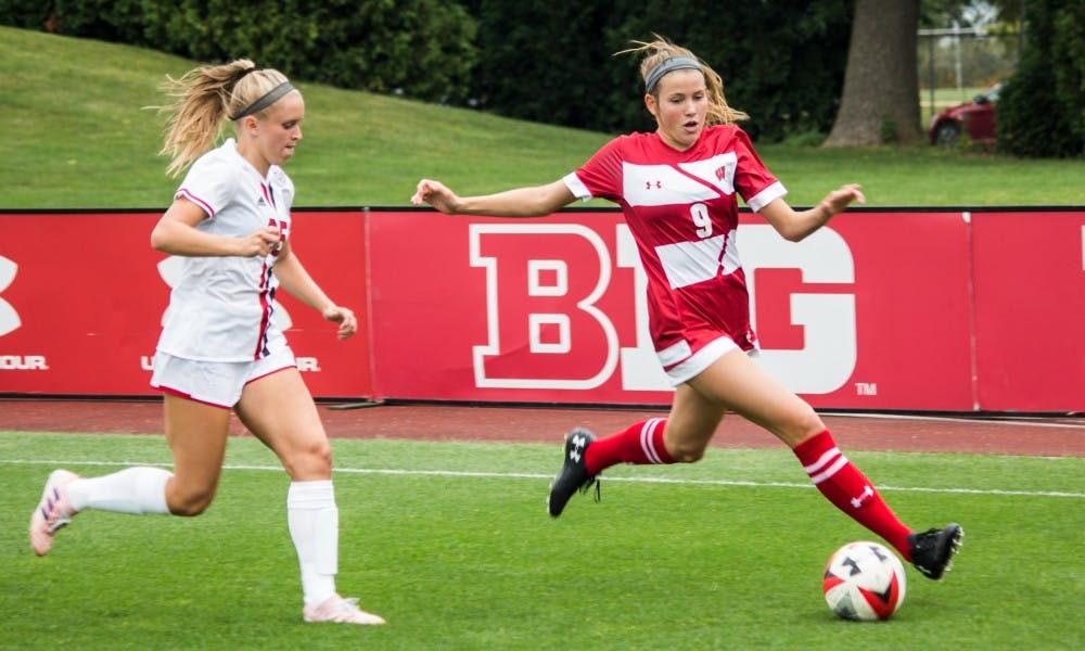 Sophomore forwardLauren Rice was able to strike a perfect shot two minutes into overtime to give the Badgers a win.