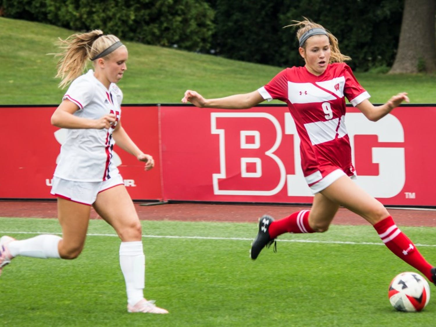 Sophomore forward Lauren Rice was able to strike a perfect shot two minutes into overtime to give the Badgers a win.
