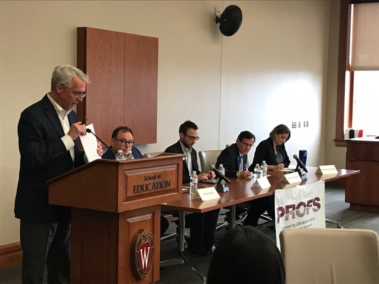PROFS and the Wisconsin Center for the Advancement of Postsecondary Education formed a panel on the 2019-'21 state capital budget implications on higher education after a split opinion from Gov. Tony Evers and Republican-held state legislature.
