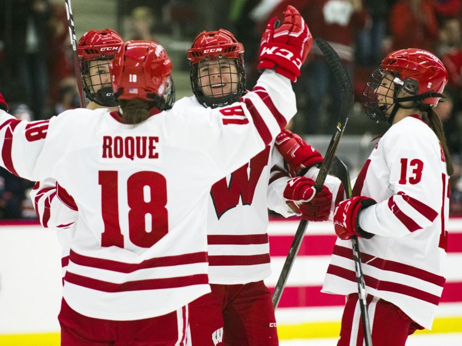 Wisconsin's second line — junior Abby Roque and freshmen Britta Curl and Sophie Shirley — lead the way with three goals against Syracuse.