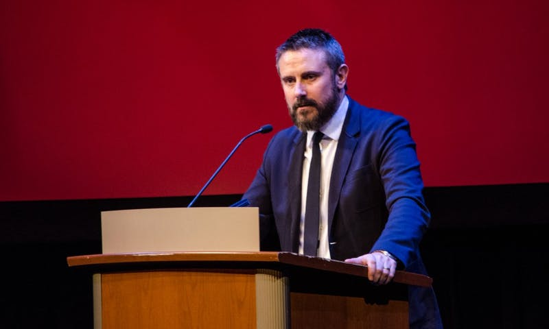 Jeremy Scahill — an investigative reporter, war correspondent and former UW System student — spoke Tuesday evening about the current state of the media and the importance of holding governmental organizations accountable.