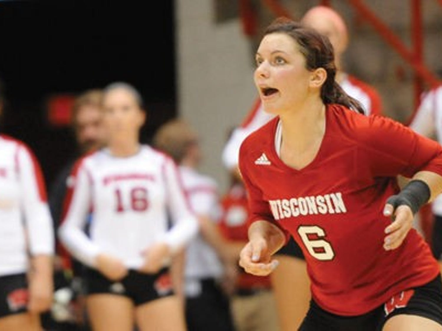 Junior libero Taylor Morey leads the Big Ten in digs per set with 5.36 and has been a big part of Wisconsin's 15-2 start to 2014.