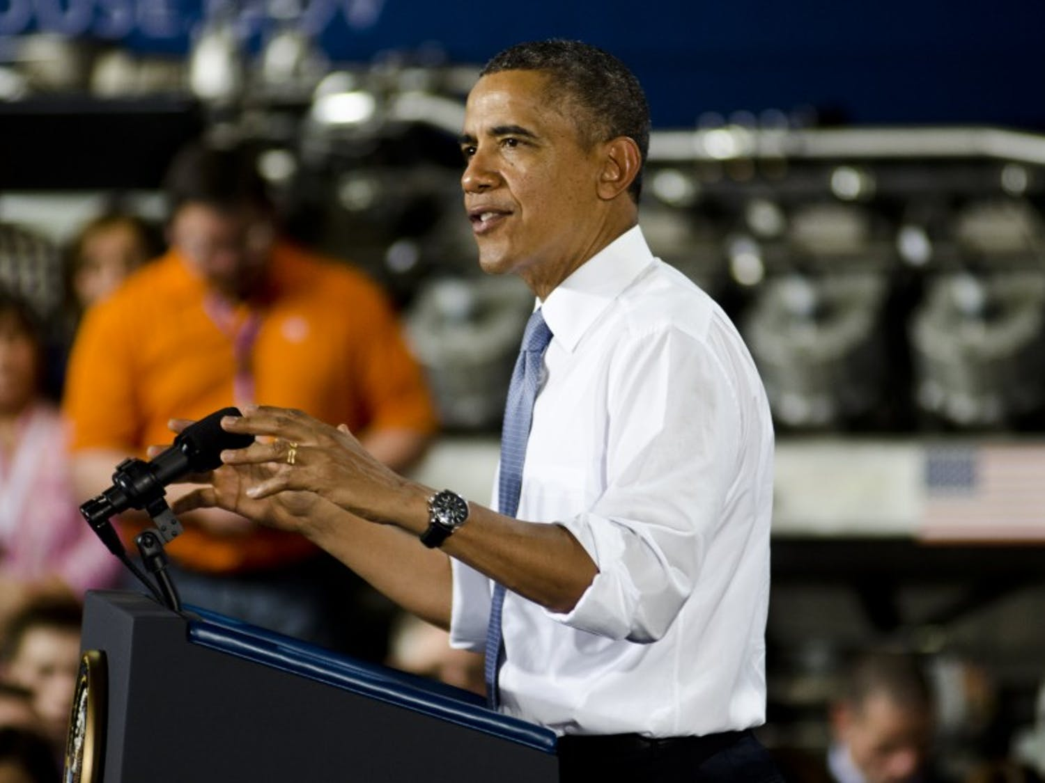Former President Barack Obama rallied in Milwaukee Friday to support Democratic candidate for governor Tony Evers and U.S. Sen. Tammy Baldwin in the impending midterm election.