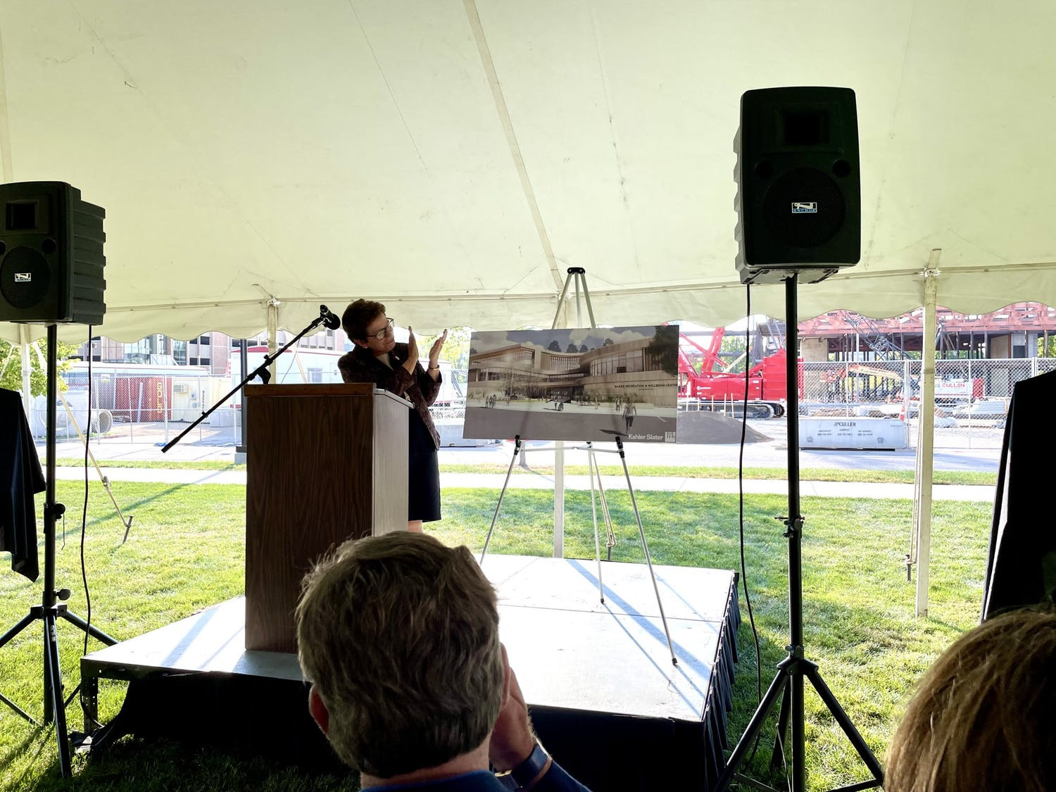 Chancellor Rebecca Blank unveils new plans for recreation center