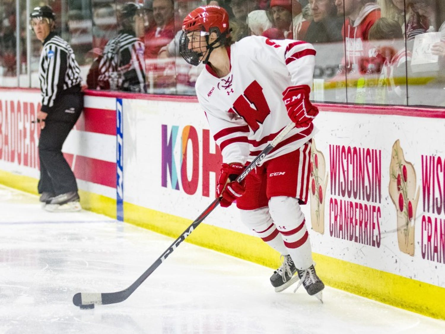 Sophomore forward Sophie Shirley is a pivotal part of UW's attack, which has scored five or more goals in three of Wisconsin's four wins this season.