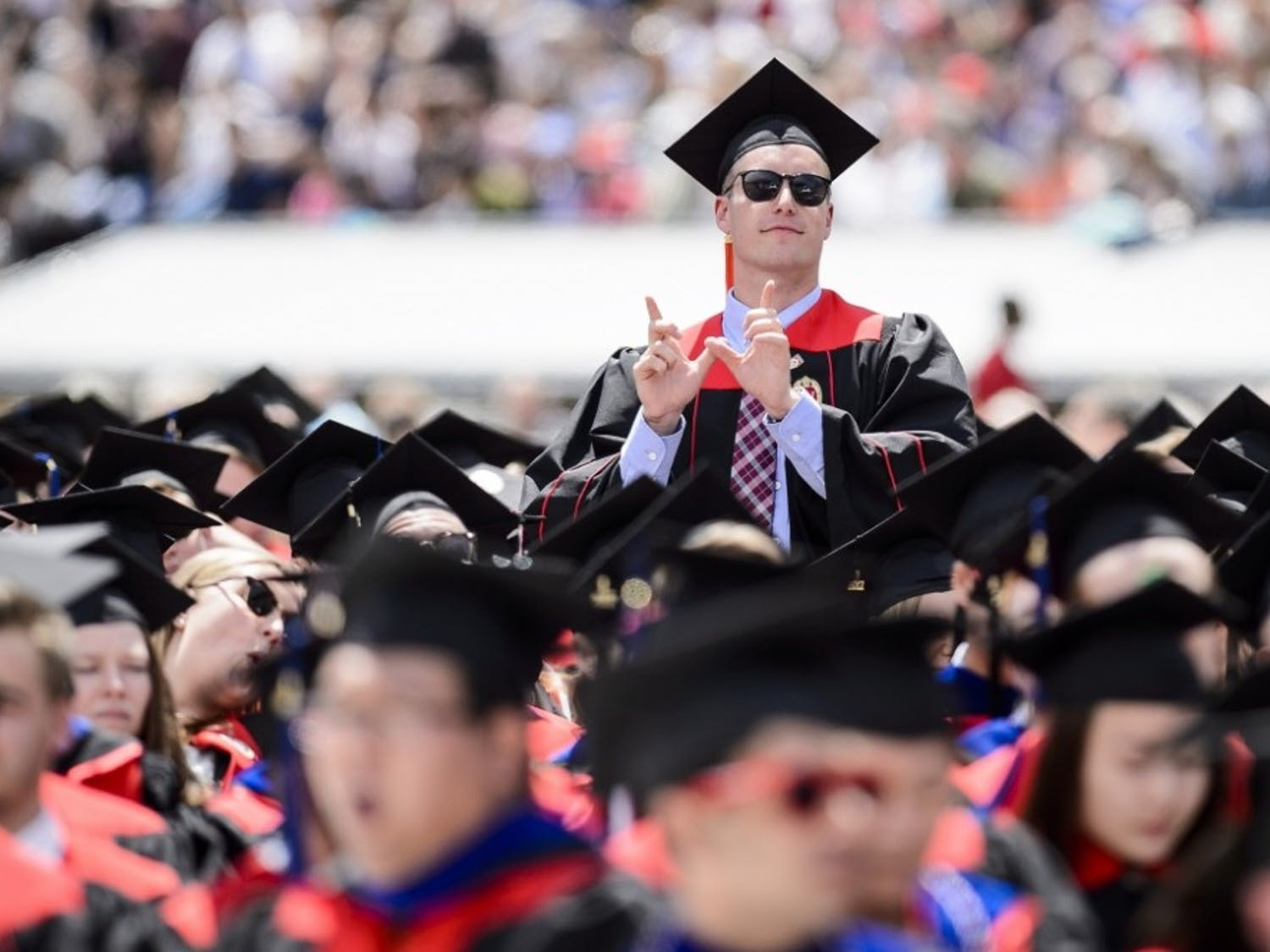 Just under 6,300 bachelor's, master's and law students participated in commencement exercises Saturday at Camp Randall.