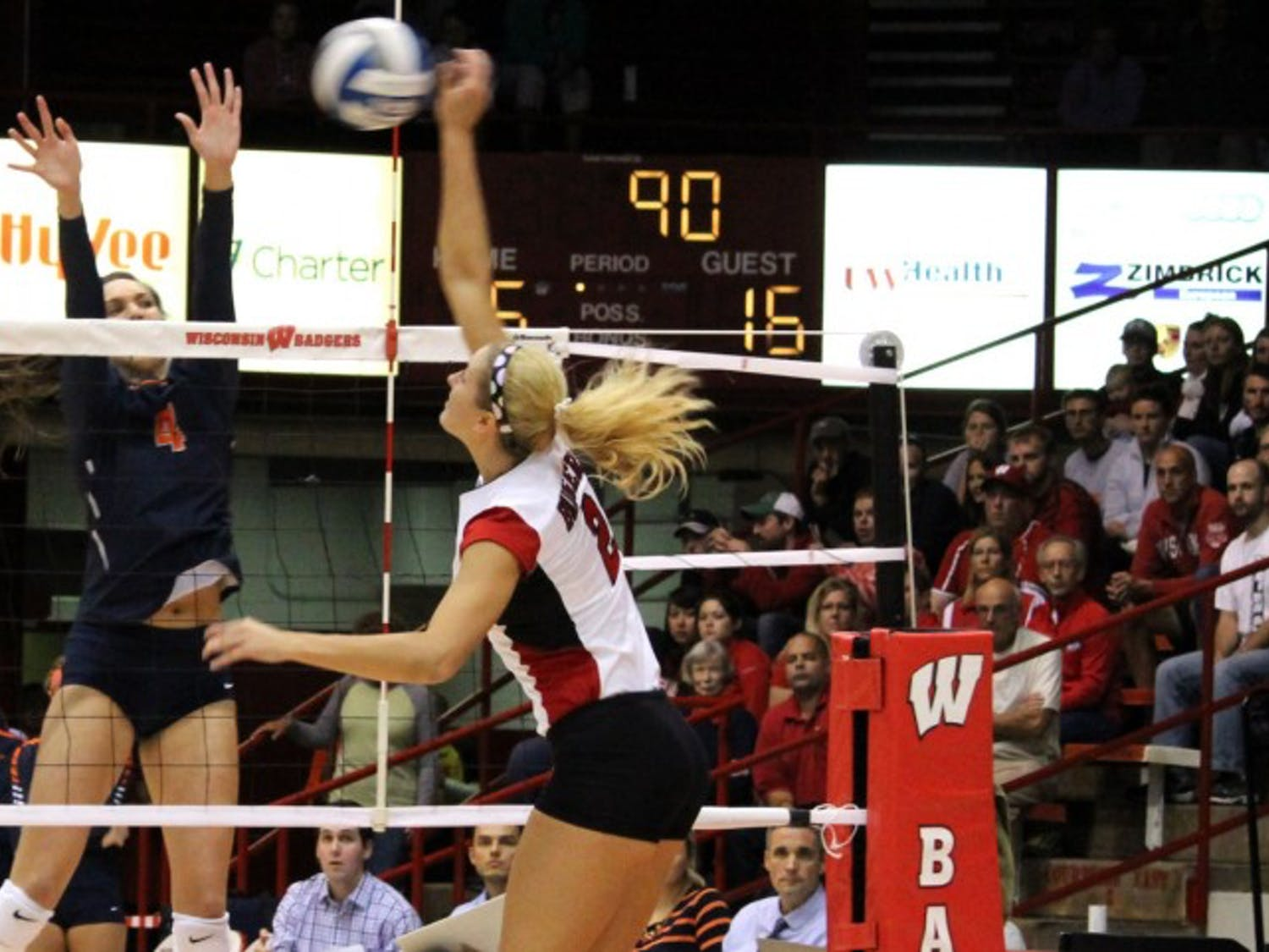 Redshirt seniorRomana Kriskova has come up big for the Badgers in their last two matches.