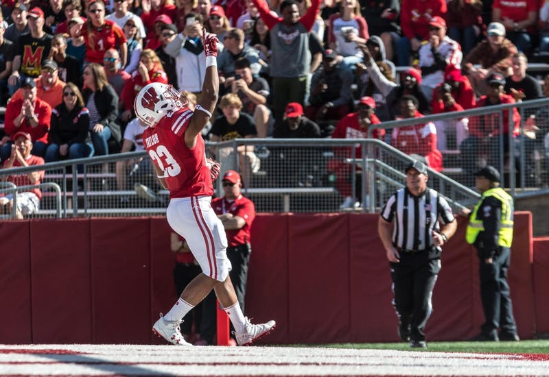 Jonathan Taylor scored five touchdowns in Wisconsin's 48-0 win over Kent State. Taylor also passed Melvin Gordon for third-most rushing yards in program history.