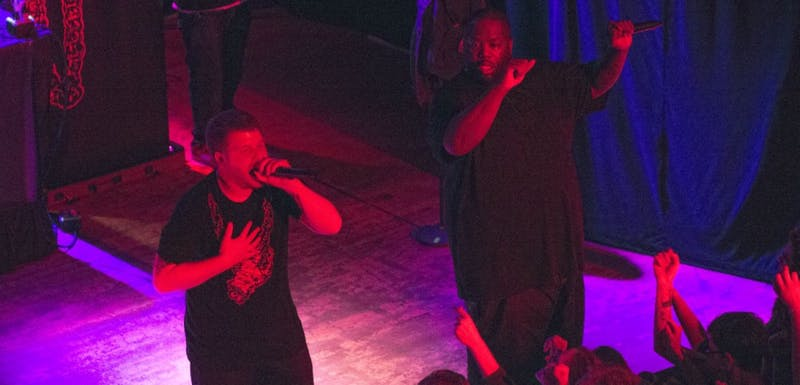 Killer Mike and El-P entertain a sold-out crowd at the Majestic Theater Friday, Nov. 23.