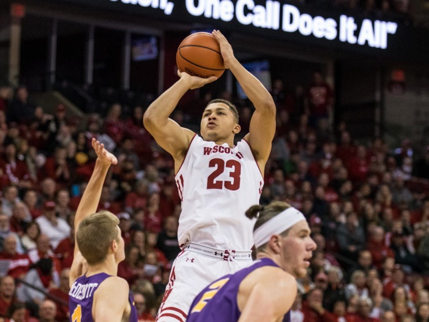 Sophomore guard Kobe King was one of several Wisconsin playersheavily recruited by Marquette coming out of high school, but stayed committed to the Badgers.