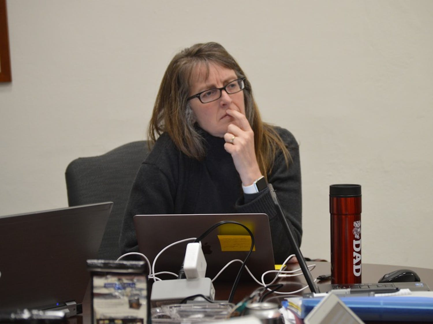 The University Committee, led by Chair Amy Wendt, discussed UW-Madison post-tenure review policy in a meeting Tuesday.