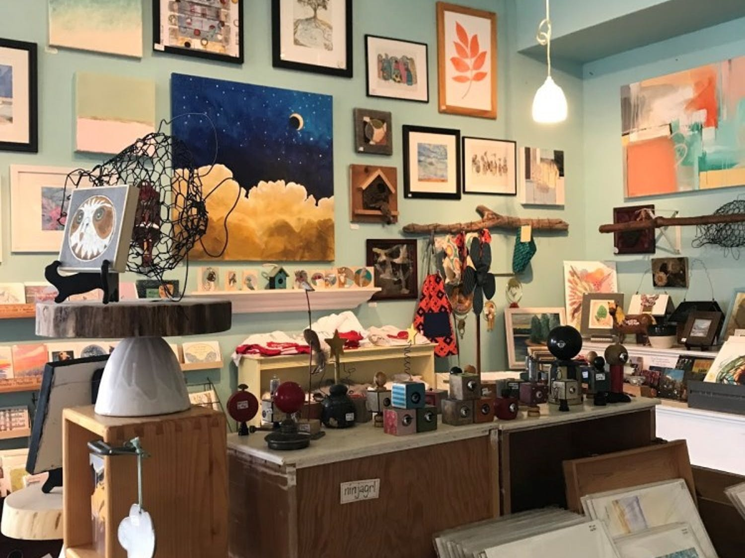 Hatch Art House is located on Williamson St. in the east side of Madison. The shop has become a leading local example for sustainability in art.
