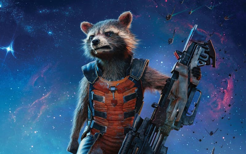 """Rocket Raccoon, first appearing in Marvel's """"Guardians of the Galaxy,"""" has quickly become a top fan favorite, often stealing any scene he is featured in."""