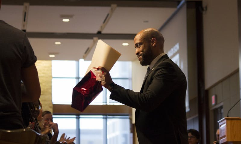 Lt. Gov. Mandela Barnes spoke to a crowd of UW-Madison community members to commemorate Martin Luther King Jr.