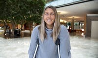 Amy Shircel, a temporarily disabled UW-Madison senior, spoke on the obstacles of getting around campus during the winter.