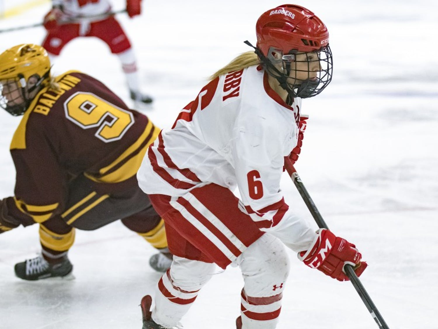Minnesota native Presley Norby tied for a team high with five shots on goal in Wisconsin's loss to the Gophers on Saturday.