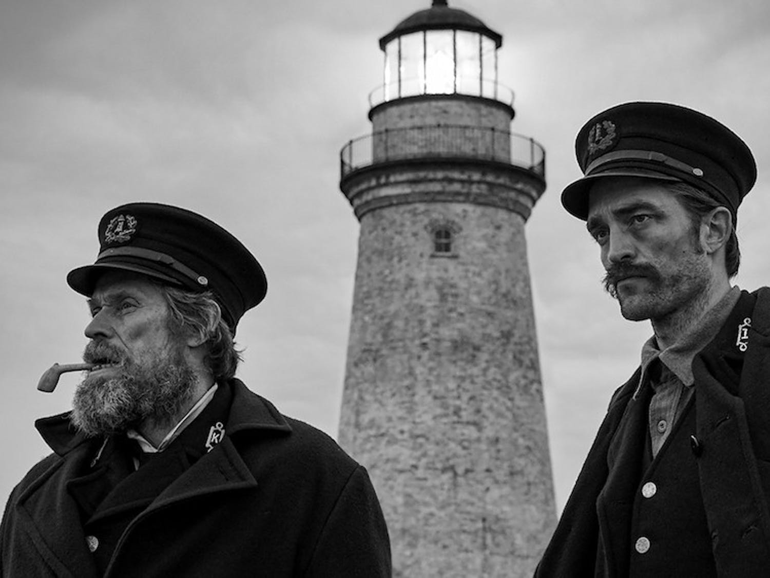 "Willem Dafoe (left) and Robert Pattinson (right) star in ""The Lighthouse"" from director Robert Eggers, which is already generating Oscar buzz for both actors."