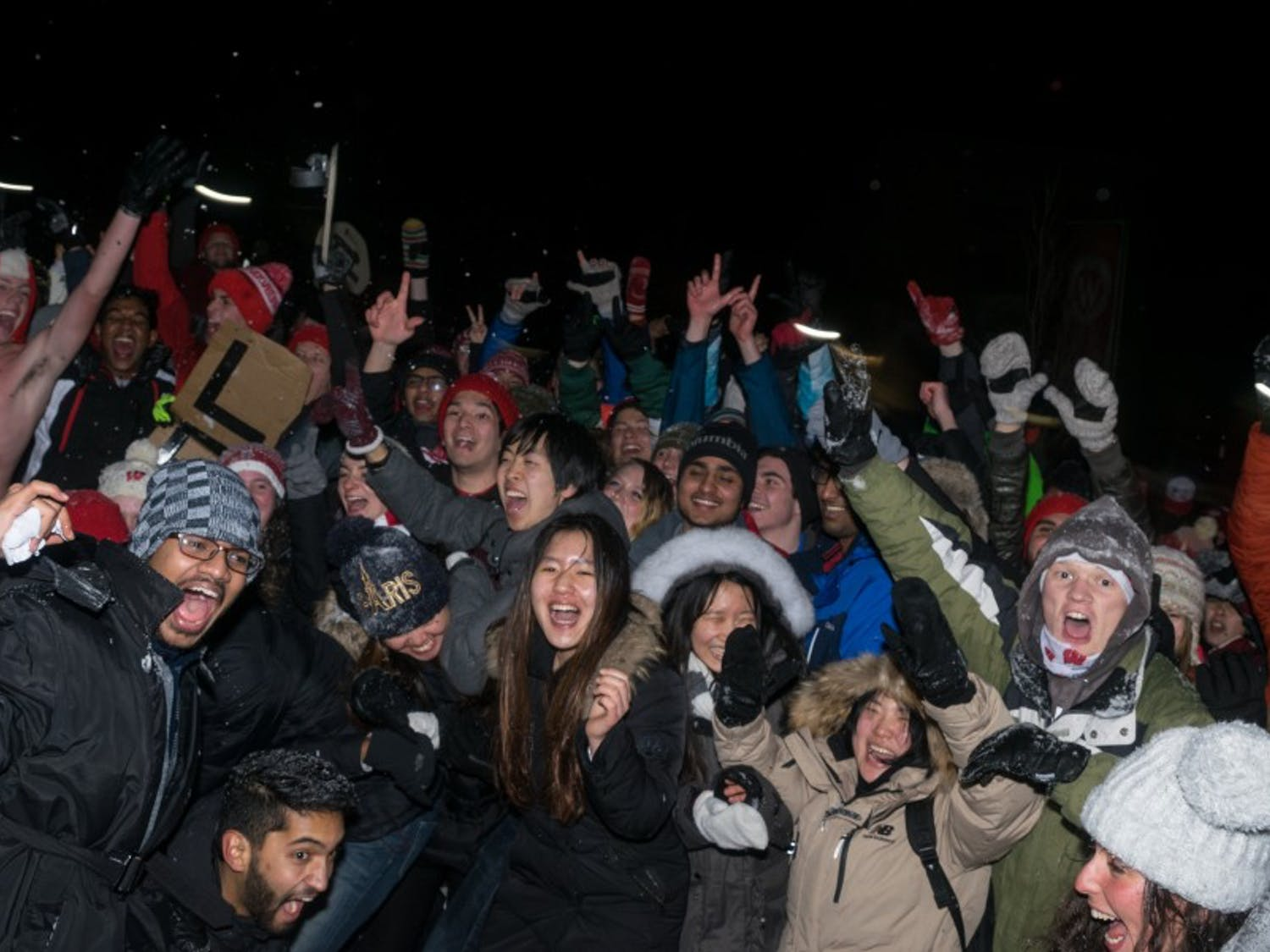 Lakeshore and Southeast neighborhood residents fired snowballs as they fought in the Battle for Bascom Thursday night.
