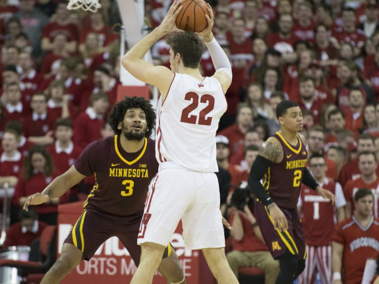 Ethan Happ and the Badgers won their exhibition game against UW-Oshkosh by a score of 82-70.