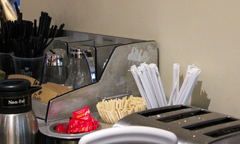 Universities across the state are looking to decrease plastic products on campus, beginning with banning straws.