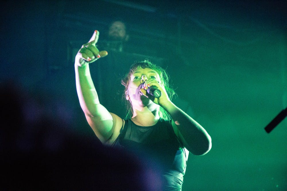 Sylvan Esso's Amelia Meath performs at their sold-out show.