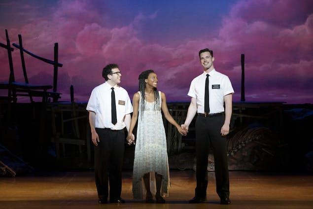Arts - Jordan Matthew Brown, Alyah Chanelle Scott, Liam Tobin - The Book of Mormon (c) Julieta Cervantes 2019.jpg