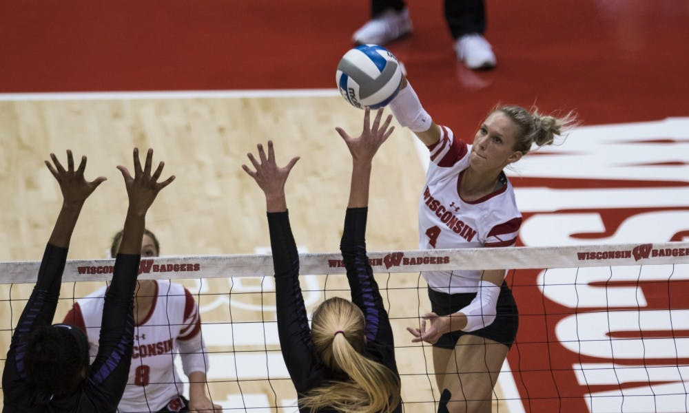 <p>Kelli Bates and the Badgers advanced to the Sweet Sixteen after two postseason road sweeps.</p>