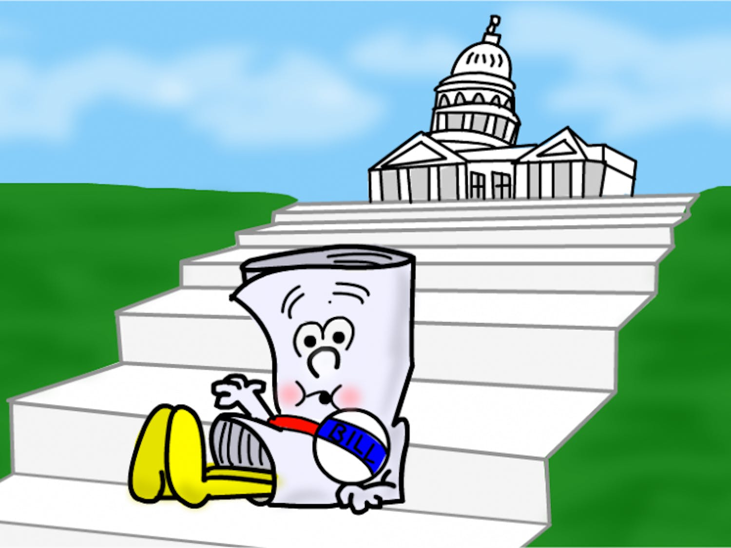 This is a bill. He is only a bill. And he's sitting up on Capitol Hill.