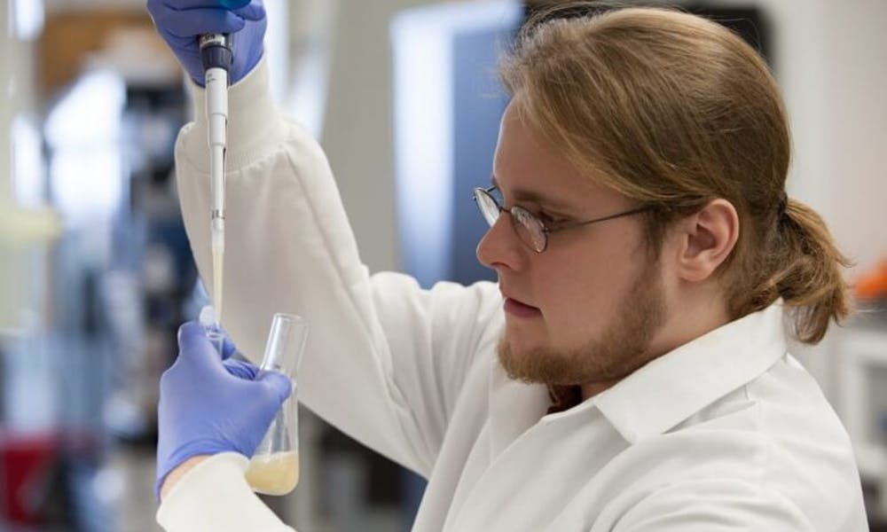 Quinn Dickinson, a research specialist at the UW-Madison's Wisconsin Energy Institute, helped develop a new strain of yeast to improve biofuel production.