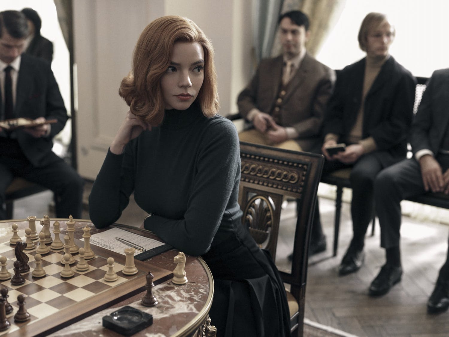 "Anya Taylor Joy stars as chess prodigy Beth Harmon in Netflix mini-serires ""The Queen's Gambit."""