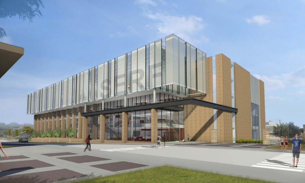 The SERF will be torn down and replaced with a gym based on the model above.